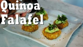 Vegan Quinoa Falafel with Tahini Avocado Dressing | Jason Wrobel
