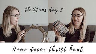 HOME DECOR thrift with me + HAUL | Thriftmas day 2