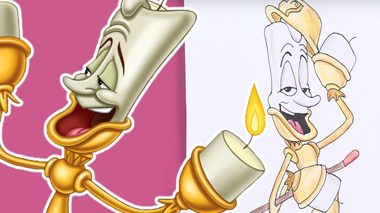 How To Draw And Colour In Lumiere Beauty The Beast Crafts DISNEY 2017 Crafty Kids