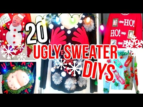Diy Christmas Sweater Costume Ideas Cheap Easy