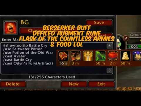 Fury warrior macros keybinds