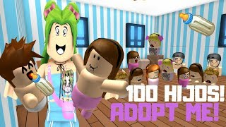 👩 ADOPT I ADOPT 100 children 😱 - ROBLOX