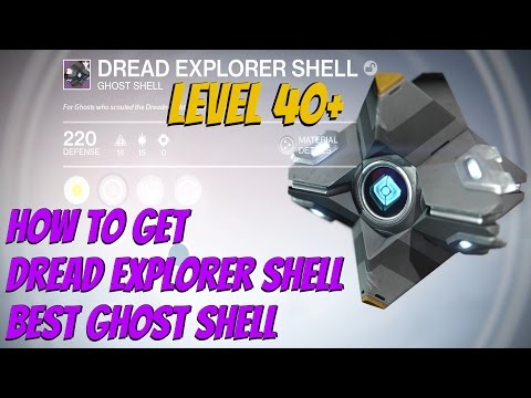 Destiny The Taken King - How To Get Dread Explorer Shell (Best Starter Ghost Shell)