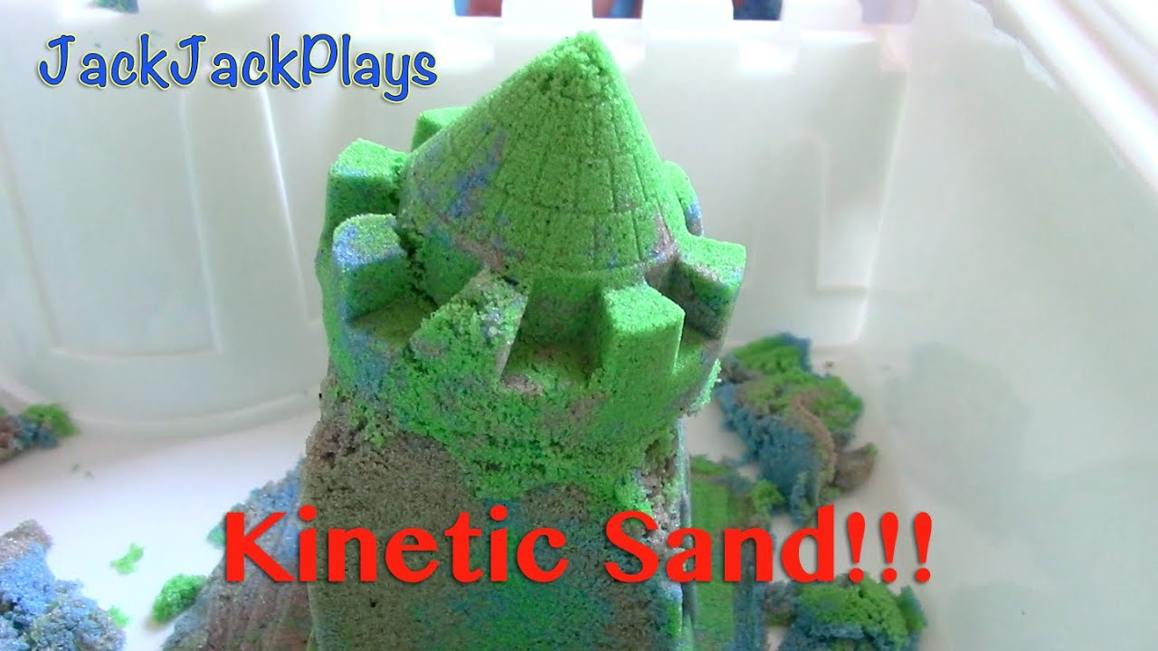 Kinetic Sand Castle Toy Unboxing Kids Playing With Toys