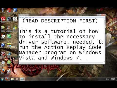 Windows Tutorial: Update/Fix Action Replay Code Manager Driver [Windows Vista & 7]