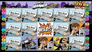 La bande dessinée JACK HAMMER en machine à sous. Un big win ?