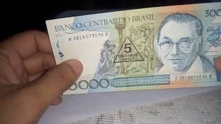 UBCN ASLI BANCO CENTRAL DO BRASIL 5 CRUZADOS NOVOS