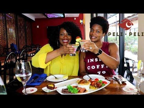 PELI PELI MUKBANG! SOUTH AFRICAN FOOD!  (WE IN HOUSTON)