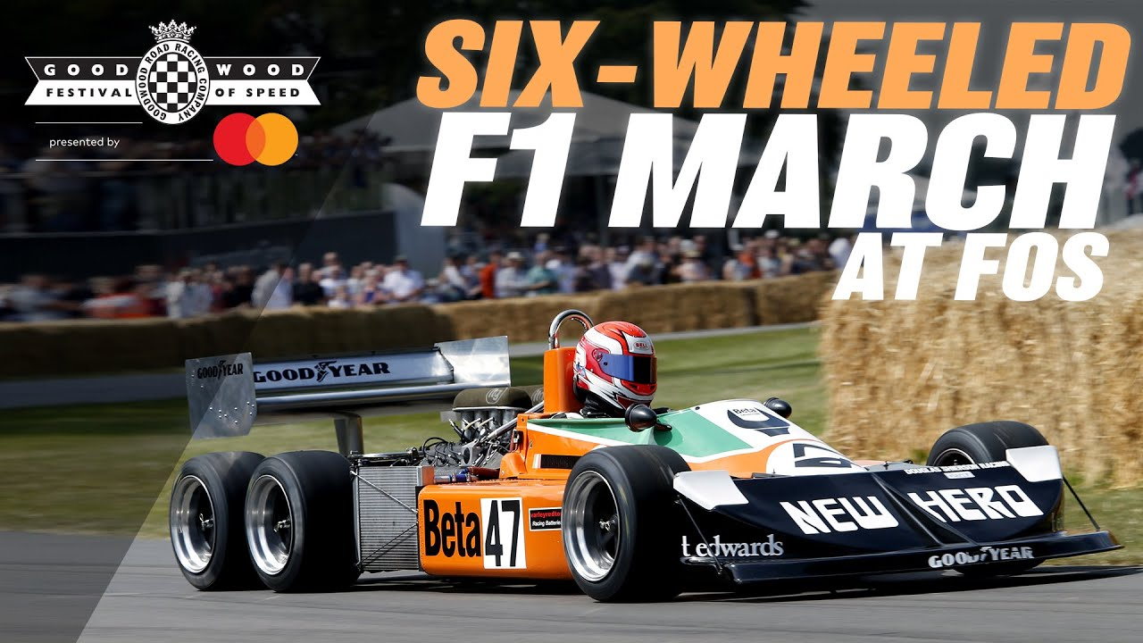 Six-wheeled F1 car stuns Goodwood with screaming run