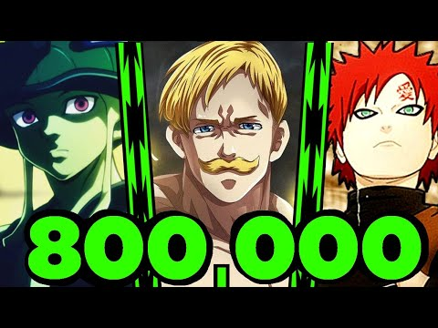 Top 10 Fights in Anime 800k Special