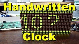Harifun #117 - Handwritten Clock