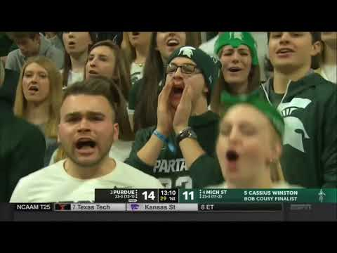 (NCAAM) #3 Purdue Boilermakers at #4 Michigan State Spartans in 40 Minutes (2/10/18)