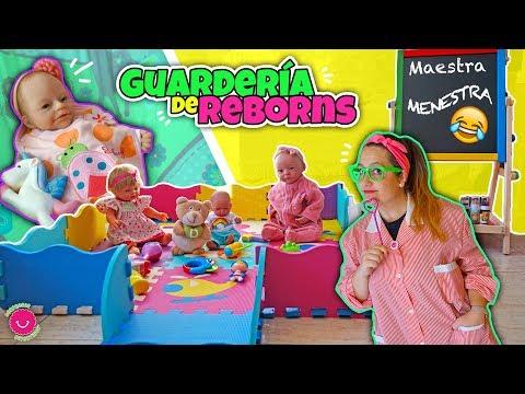 Guardería Para Bebés REBORN Con La Maestra MENESTRA - Lindea, Ben, Anuk, Neala Y Darwin