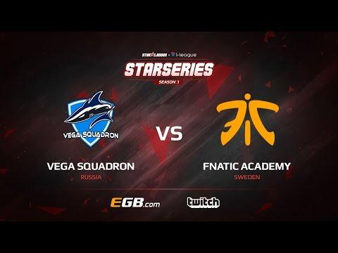 Vega Squadron vs fnatic Academy, map 1 mirage, SL i-League StarSeries Season 3 Europe Qualifier
