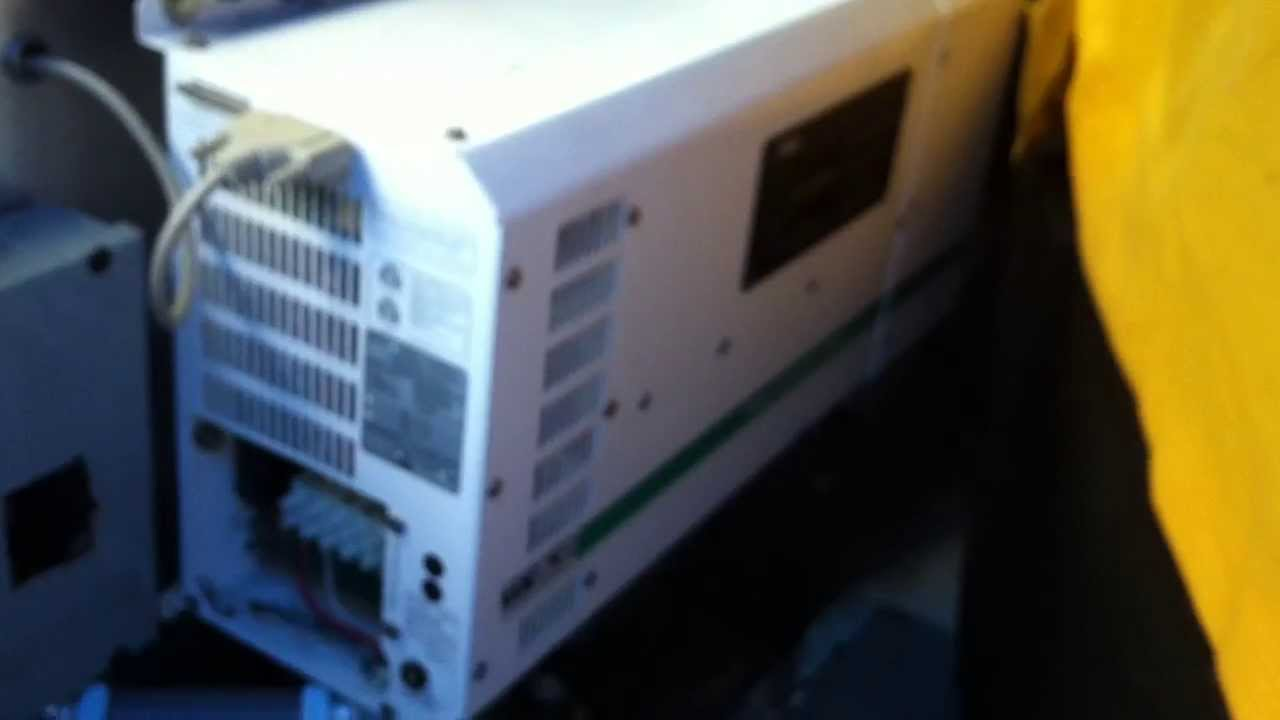 Trace Engineering Inverter / Charger model SW4024 test on
