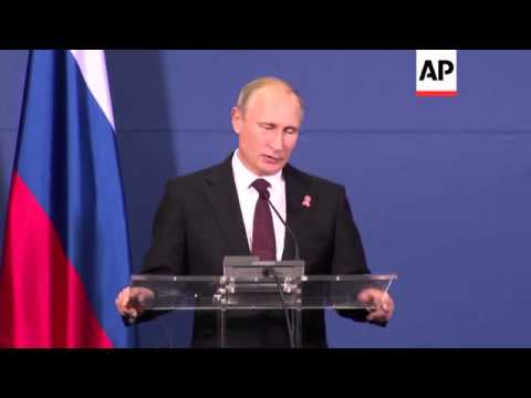 President Putin meets PM Vukic, excerpts of news conference