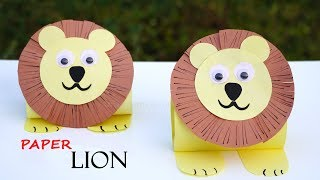 Paper Lion  How to Make Paper Lion  DIY Paper Animal Crafts  Easy Tutorials