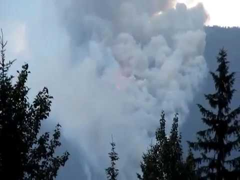 Forest Fire In Glacier National Park BC July 15 '17