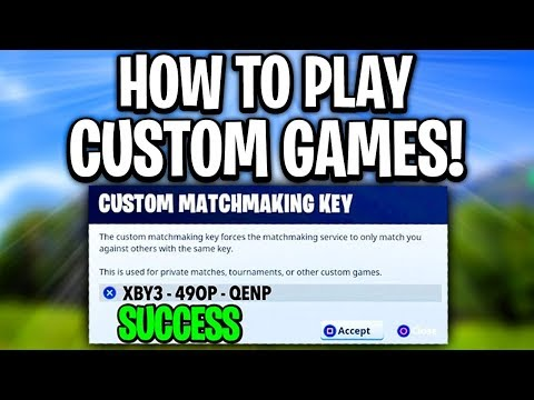 fortnite custom matchmaking how to get a key