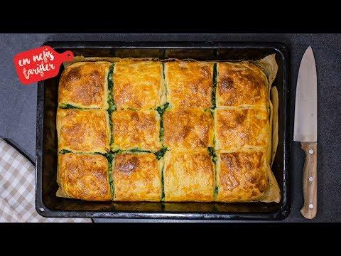 Oklava Kullanmadan Kolay El Açması Kat Kat Ispanaklı Börek Tarifi  (Arnavut Böreği Nasıl Yapılır?)