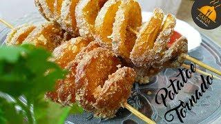 Crispy Potato Tornado  Homemade Spiral Potato Recipe