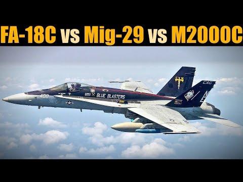 DOGFIGHT: FA-18C vs Mig-29A vs Mirage 2000C | DCS WORLD