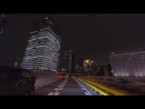 Night Driving 4K - Center of Tokyo - Imperial Palace, Tokyo Station, Ginza, Nihonbashi in Japan