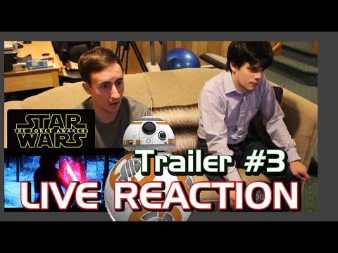 Star Wars The Force Awakens Trailer #3 JEDI LIVE REACTION?! Ep. 7, VII