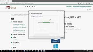 Installera rCloud Office Windows 7 Windows 8 Windows 10