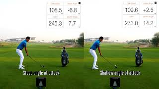 Shallow your angle of attack to hit LONGER DRIVES
