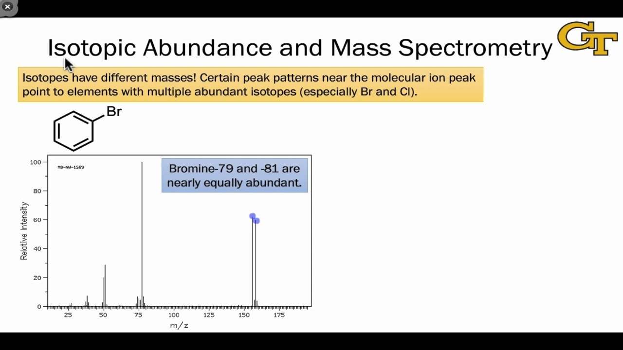 small resolution of 13 04 isotopic abundance in mass spectrometry