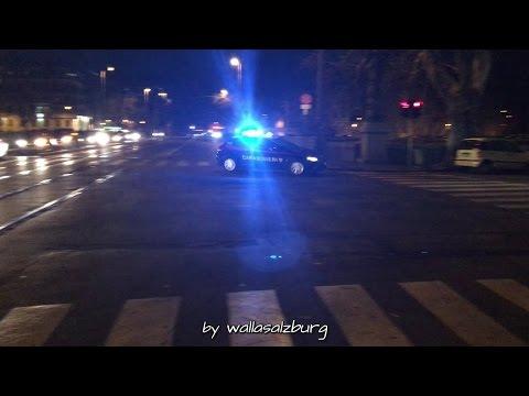 [Rome] Carabinieri on Code 3 response [Compilation]