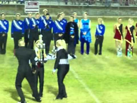 9 -25-10 Dixie Pride Marching Classic -Franklin Co High School Band Best In Class 4A  Color Guard.