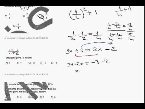 ÖMSS EKPSS 2012 Matematik Soru Çözümleri