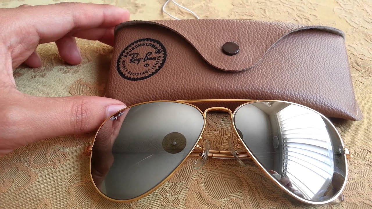 Vintage Ray Ban Double Gradient Mirrored Sunglasses