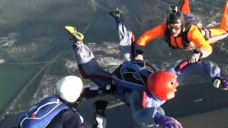 Parachute Jump - Parachute jumping. Accelerated Freefall, AFF level 1.