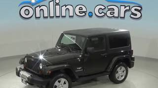 C98655NC Used 2011 Jeep Wrangler Sahara 4WD Green Test Drive, Review, For Sale