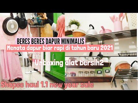 beres-beres-rumah-sederhana-bagian-dapur-|-menata-dapur-minimalis-|-shopee-haul-new-year-sale
