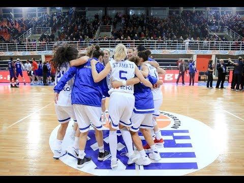 Ελλάδα-Μ. Βρετανία 61-59. Δείτε το video με στιγμιότυπα του αγώνα για την Προκριματική Φάση Ευρωμπάσκετ Γυναικών 2019