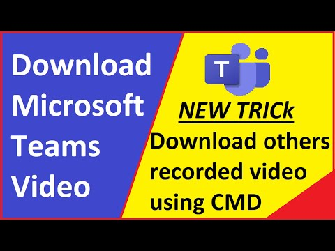 How to download others recorded video from MS Teams | Download Recorded Meeting from MS Stream