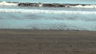 low tide on Playa Potrero beach in Costa Rica