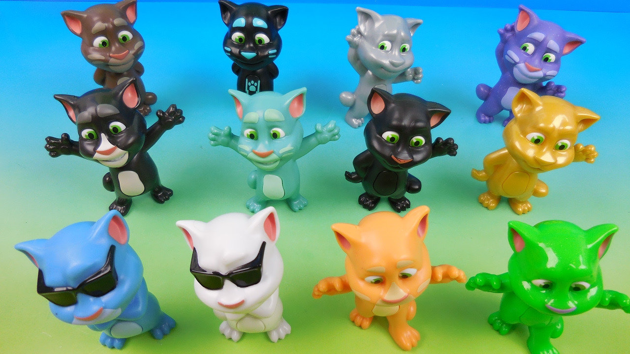 Talking Tom Set Of 12 Mcdonalds 2016 Happy Meal Kids Toys Video