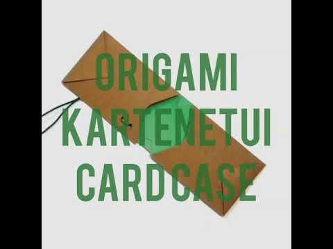 Origami Card Case Kartenetui