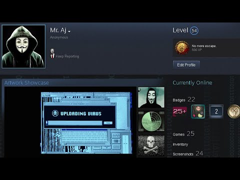 Building the most edgy hacker steam profile ever 2021