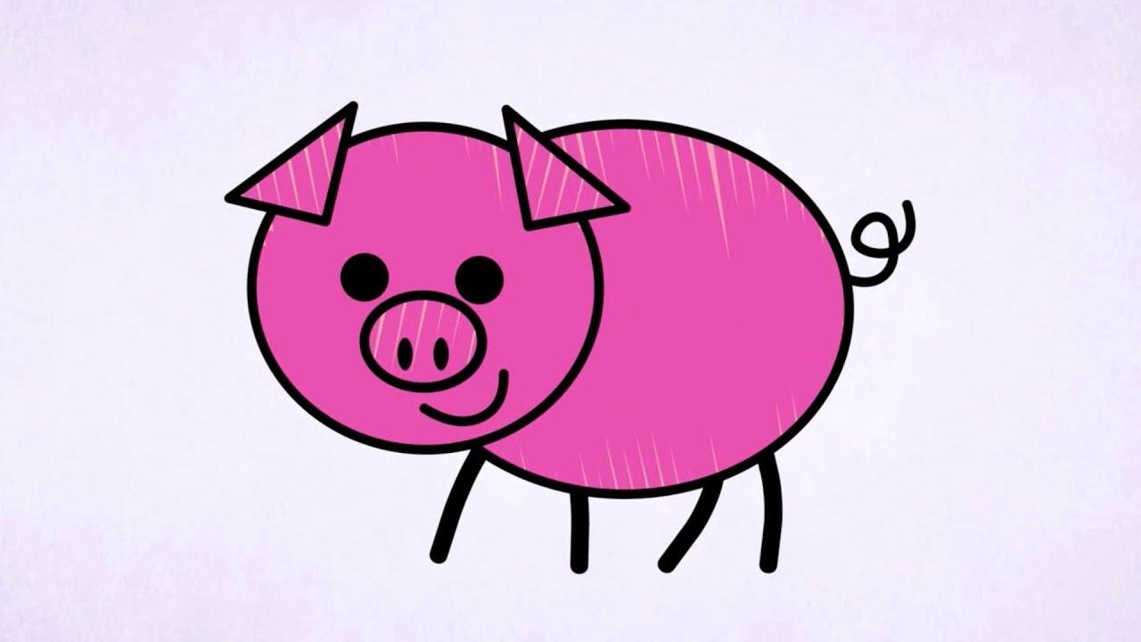 Świnka - RYSOWANE WIERSZYKI - YouTube
