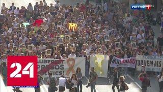 Смотреть видео Бунт в Барселоне: столкновения против приговоров каталонским сепаратистам - Россия 24 онлайн