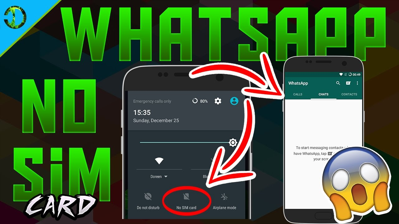 How To Use WHATSAPP Without PHONE NUMBER [NO SIM CARD] WHATSAPP No Mobile  Number 2017 Whatsapp Trick