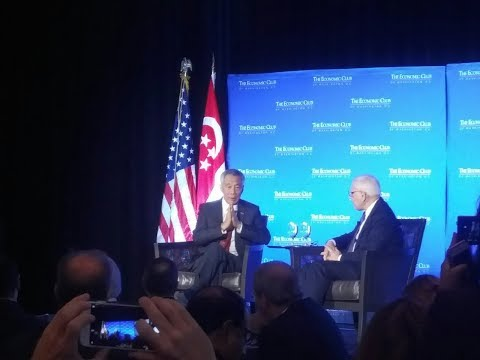 Singapore Prime Minister Lee Hsien Loong discuss GIC in interview with Carlyle David Rubenstein #SWF