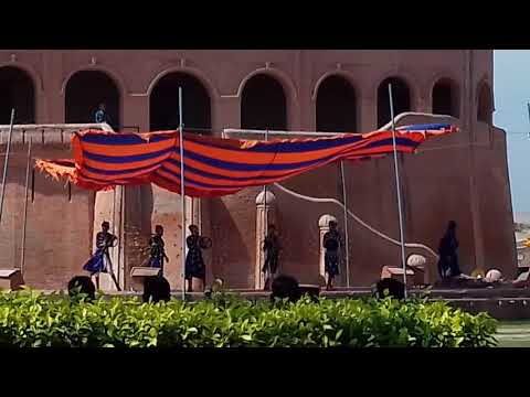 Performances by martial artists at Raja Ranjitsingh Fort Amritsar