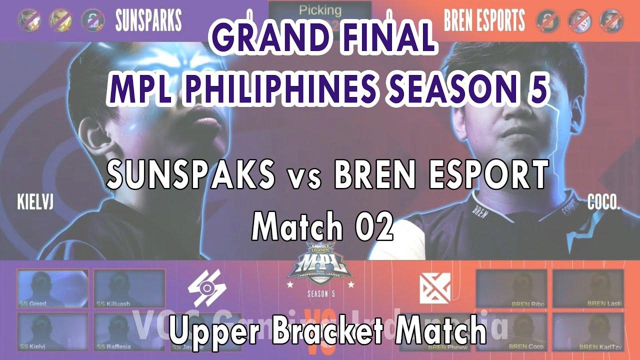 SUNSPAKS vs BREN ESPORT - Match 2 Final Upper Bracket